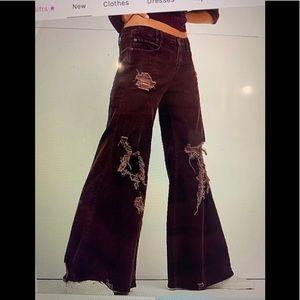 Free people bell bottom corduroy jeans
